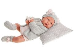 Antonio Juan 3386 Nacida realistická panenka miminko s měkkým látkovým tělem 40 cm - Poškozený obal