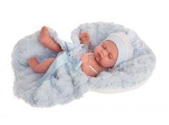 Antonio Juan 4073 Luni spící realistická panenka miminko s celovinylovým tělem 26 cm