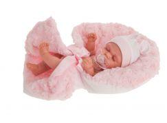 Antonio Juan 4074 Luni spící realistická panenka miminko s celovinylovým tělem 26 cm