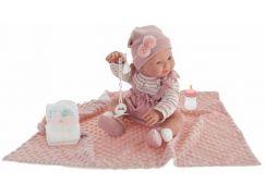 Antonio Juan 50160 Mia mrkací a čůrající realistická panenka miminko s celovinylovým tělem 42 cm