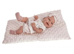 Antonio Juan 6028 Clara realistická panenka miminko s celovinylovým tělem 33 cm