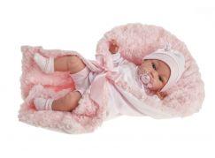 Antonio Juan 7030 Toneta realistická panenka miminko se zvuky a měkkým látkovým tělem 34 cm