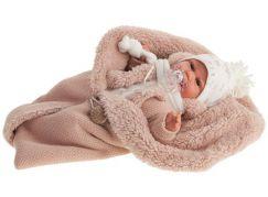 Antonio Juan 7046 Clara realistická panenka miminko se zvuky a měkkým látkovým tělem 34 cm