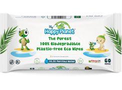 Aquaint Happy Planet BIO odbouratelné vlhčené ubrousky 60ks