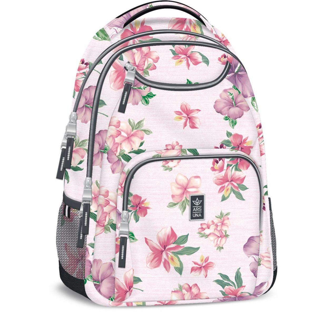 Ars Una Studentský batoh Flowers AU6