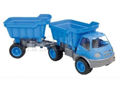 Auto Activ s přívěsem na gumových kolech - Modrá
