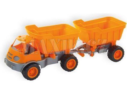 Auto Activ s přívěsem na gumových kolech - Oranžová