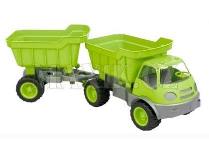 Auto Activ s přívěsem na gumových kolech - Zelená