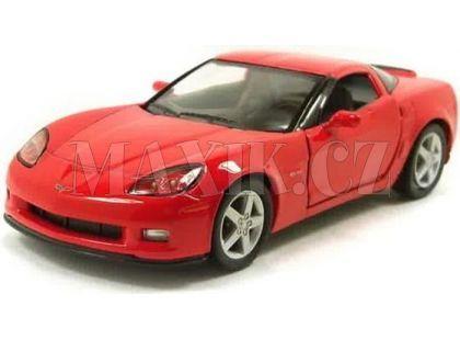 Auto Kinsmart Chevrolet Corvette C6 kov 13cm na zpětné natažení - Červená