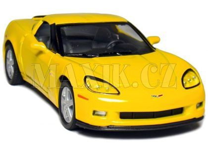 Auto Kinsmart Chevrolet Corvette C6 kov 13cm na zpětné natažení - Žlutá