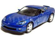 Auto Kinsmart Chevrolet Corvette C6 kov 13cm na zpětné natažení - Modrá