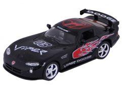 Auto Kinsmart Dodge Viper GTS-R kov 13cm na zpětné natažení - Černá