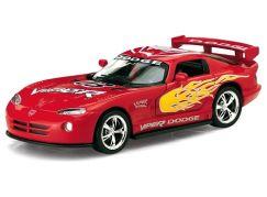 Auto Kinsmart Dodge Viper GTS-R kov 13cm na zpětné natažení - Červená