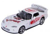 Auto Kinsmart Dodge Viper GTS-R kov 13cm na zpětné natažení - Bílá