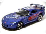 Auto Kinsmart Dodge Viper GTS-R kov 13cm na zpětné natažení - Modrá