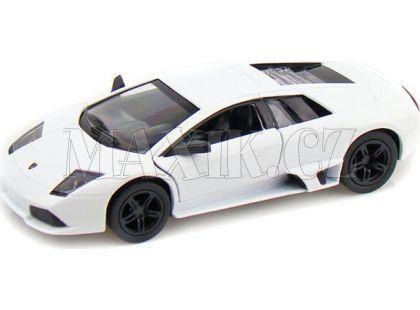 Auto Kinsmart Lamborghini Murciélago kov 12,5cm na zpětné natažení - Bílá