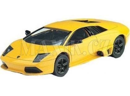 Auto Kinsmart Lamborghini Murciélago kov 12,5cm na zpětné natažení - Žlutá