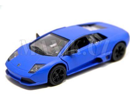 Auto Kinsmart Lamborghini Murciélago kov 12,5cm na zpětné natažení - Modrá
