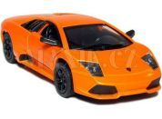 Auto Kinsmart Lamborghini Murciélago kov 12,5cm na zpětné natažení - Oranžová