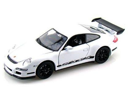 Auto Kinsmart Porsche 911 GT3 RS 2010 kov 12 cm - Bílá