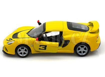 Auto Lotus Exide 1:32 13 cm na zpětné natažení - Žlutá