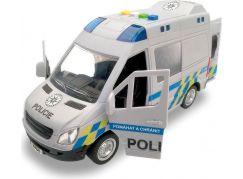 Auto policejní dodávka na setrvačník se zvukem