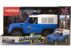 Auto policie terénní 23cm na setrvačník se světlem a zvuky