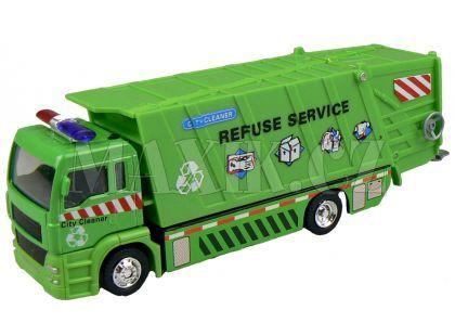 Auto Popelář 20 cm - Zelená