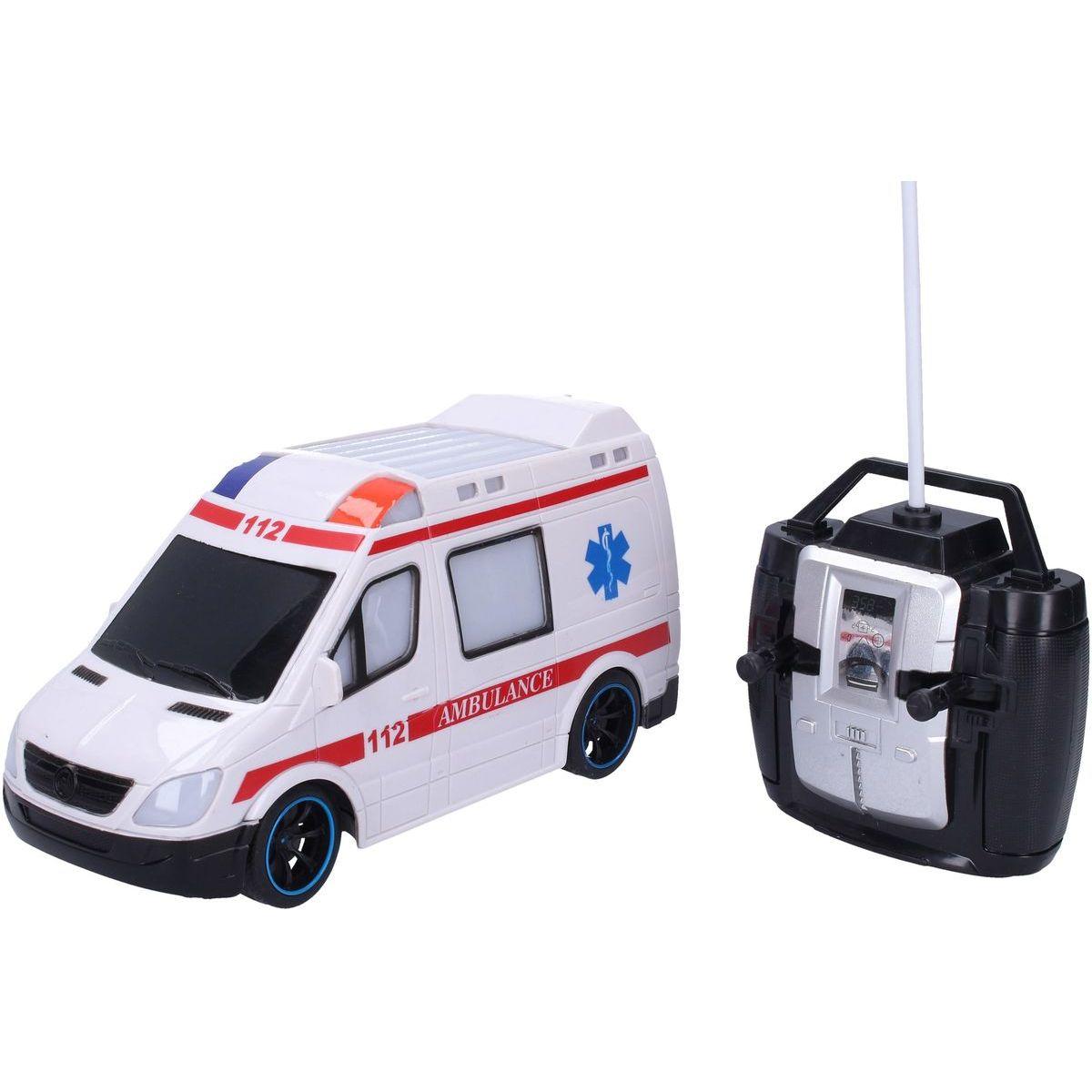 Auto RC Sanitka plast 20cm 27 MHz na baterie se světlem