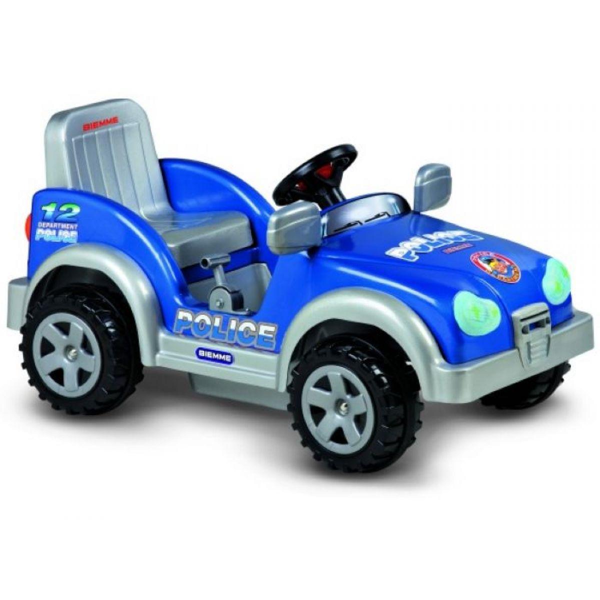 Auto SCOUT POLICE 6V - modré