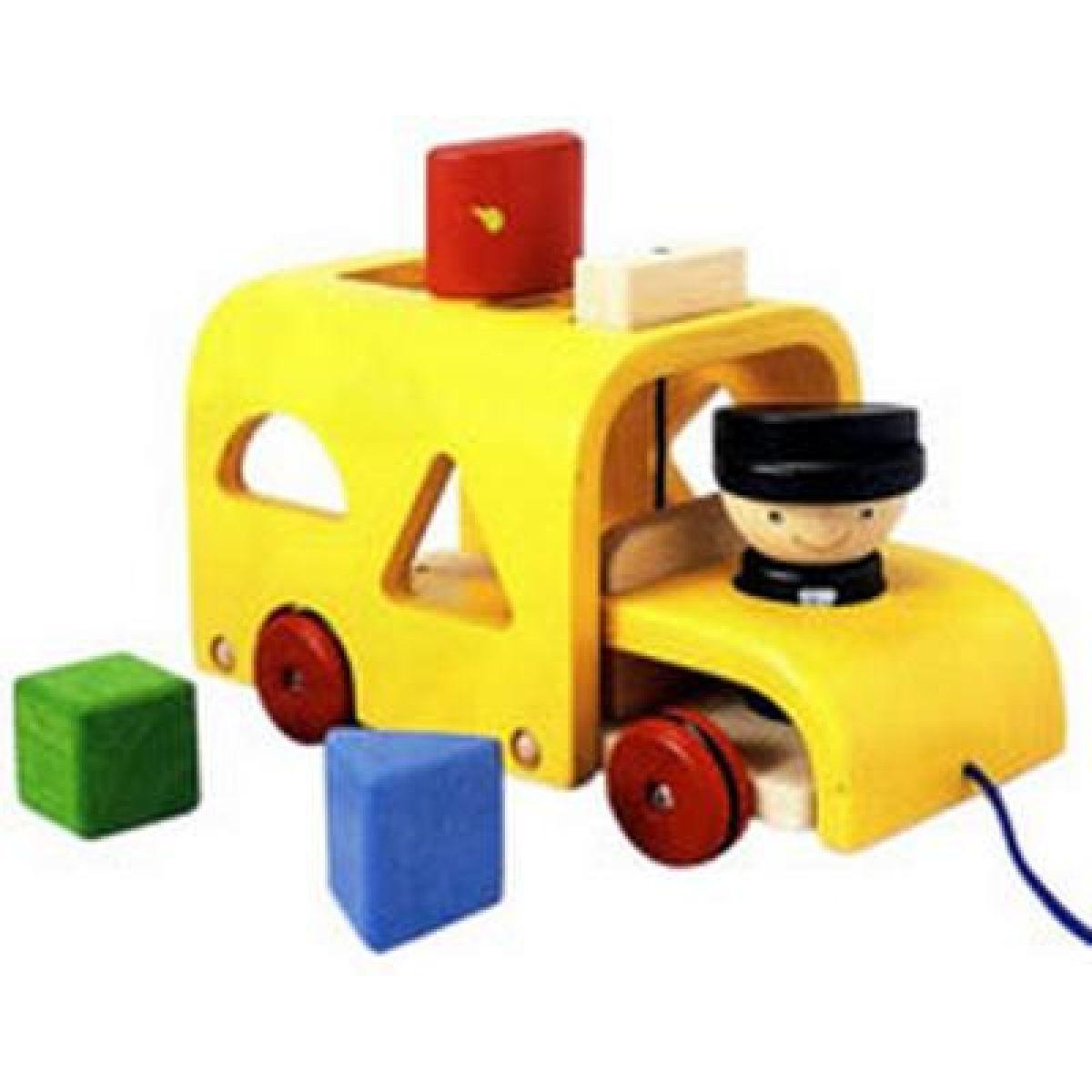 Autobus s vkládacími tvary Plan Toys