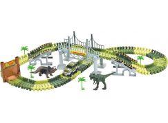 Autodráha svítící Dino na baterie