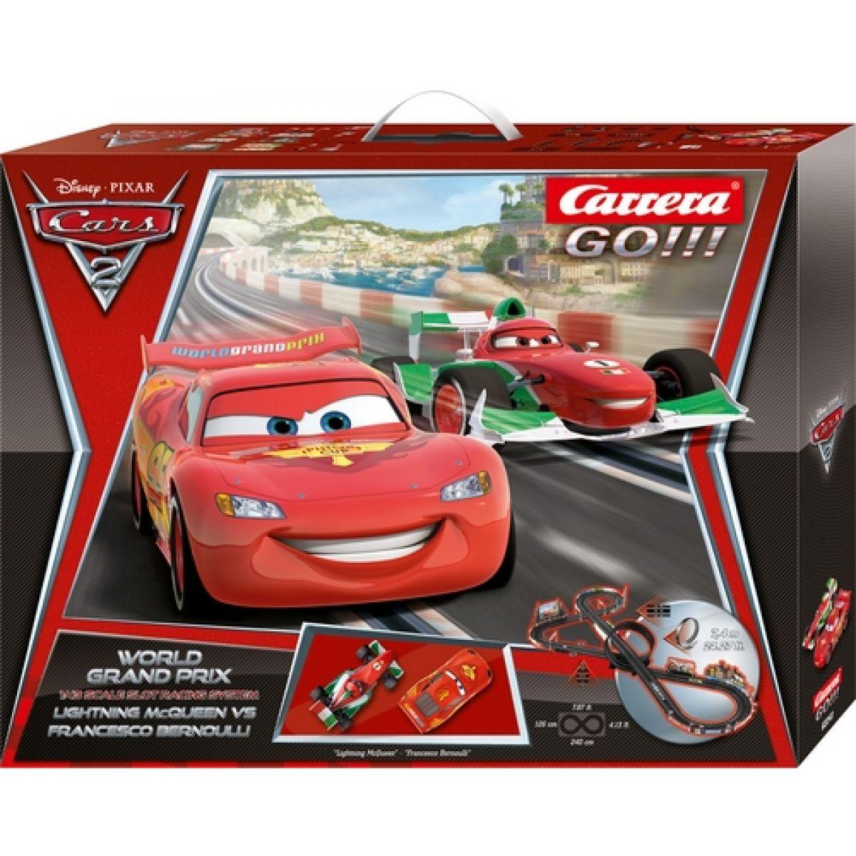 Autodráha Carrera GO! Disney Cars 2 - World Grand Prix