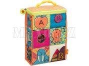 B.Toys Textilní kostky ABC Block Party