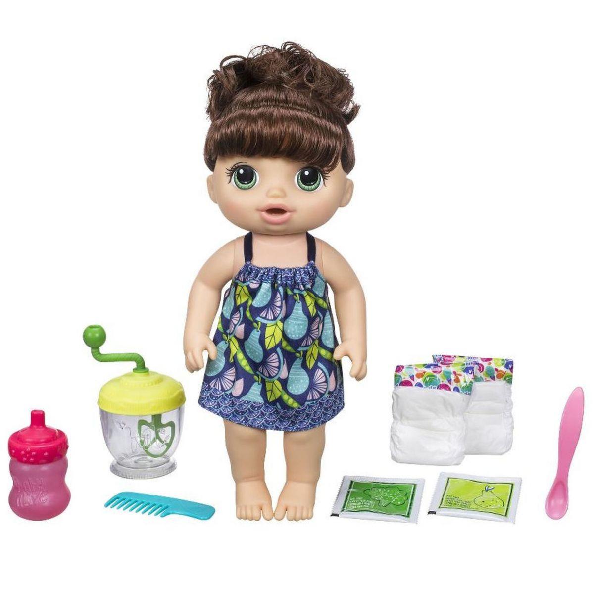 Baby Alive Tmavovlasá panenka s mixérem