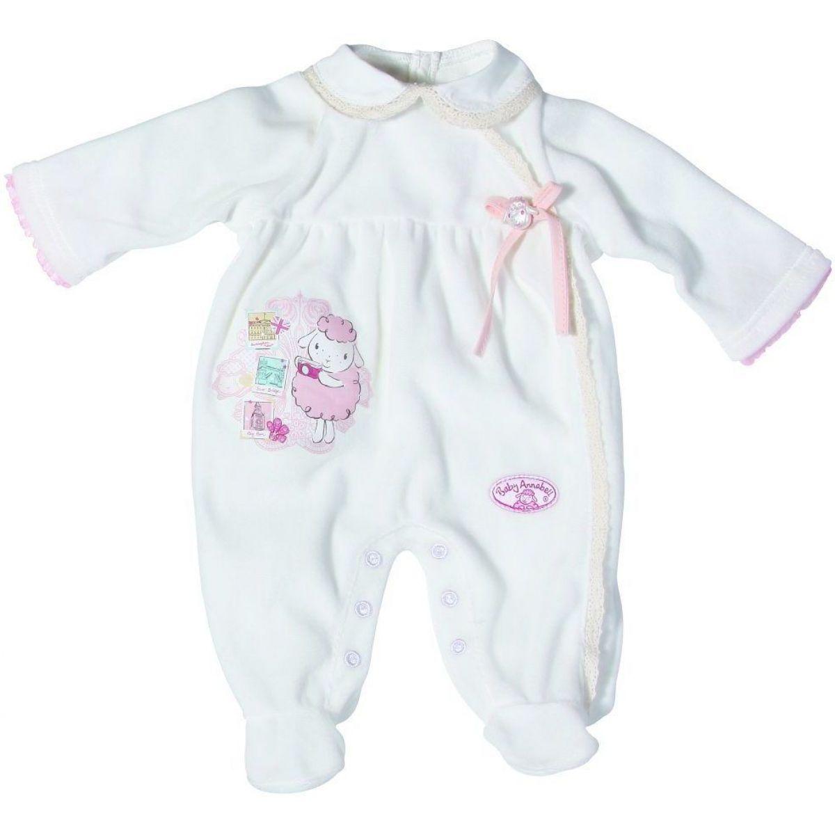 Baby Annabell Oblečení dupačky - Bílé