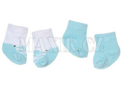 Baby Annabell Ponožky 2 páry - Modrá