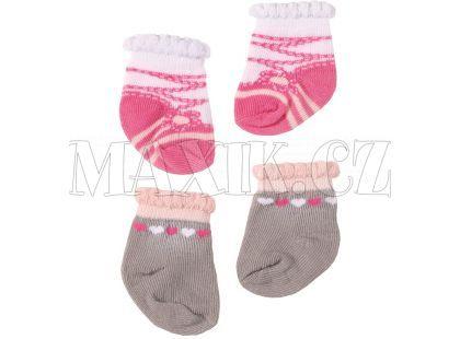Baby Annabell Ponožky 2ks - Šedivé se srdíčky