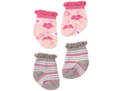 Baby Annabell Ponožky 2ks - Šedivé s proužky