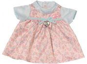 Baby Annabell Šaty se vzorem - Modrá mašle
