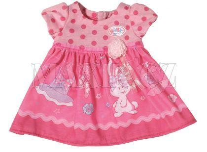 Baby Born Šaty - Tmavě růžové puntíky