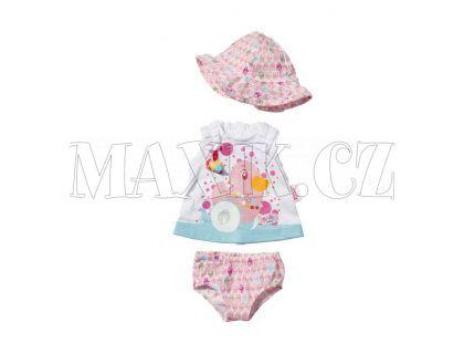 Baby Born Šaty s kloboučkem - Čepička se vzorem