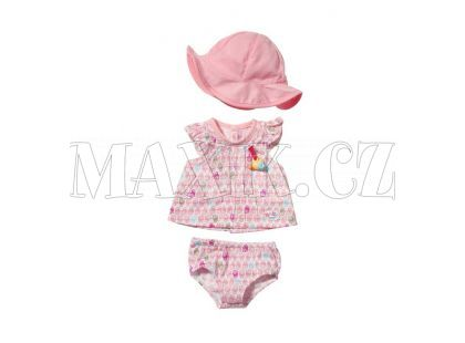 Baby Born Šaty s kloboučkem - Růžová čepička