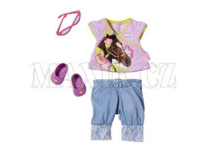 Baby Born Džínové oblečení - Fialové tričko