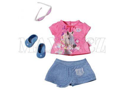 Baby Born Džínové oblečení - Růžové tričko