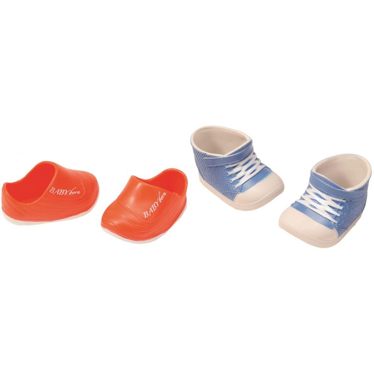 Baby Born Dva páry bot - Boty s tkaničkou a boty s nápisem
