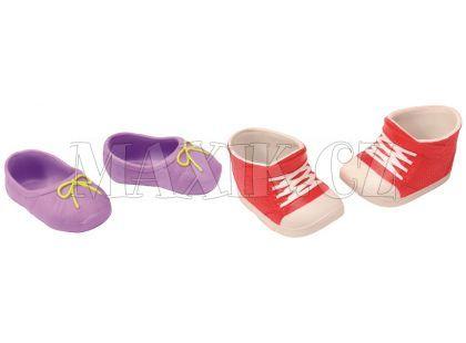 Baby Born Dva páry bot - Boty s tkaničkou a fialové baleríny