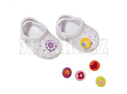 Baby Born Gumové sandálky - Bílá