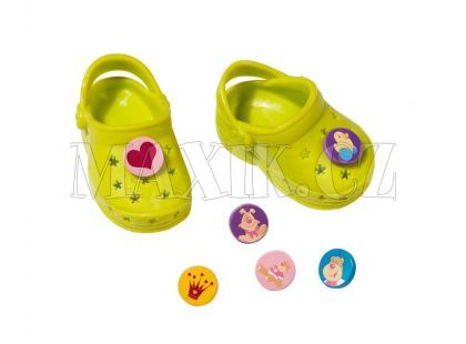 Baby Born Gumové sandálky - Žlutozelená