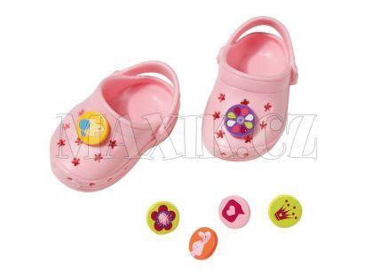 Baby Born Gumové sandálky - Růžová světlá